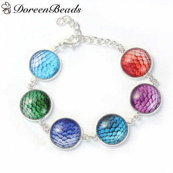 SILVER PLATED MERMAID SCALE BRACELET