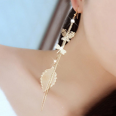 BUTTERFLY DRAGONFLY LEAF EARRINGS