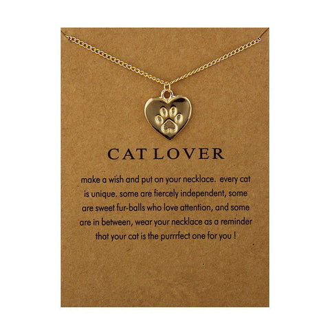 CAT LOVERS FRIENDSHIP REMINDER NECKLACES