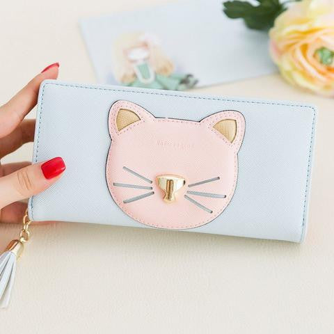 TRENDY CAT LONG WALLET
