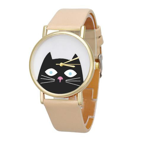 ADORABLE BLACK CAT WATCH