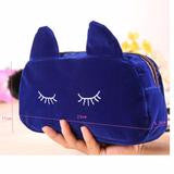 CAT PURSE AND COSMETIC MAKEUP BAG