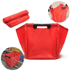 As Seen On Tv Grab Bag Clip-To-Cart Reusable Grocery Shopping Bag Red Travel bag