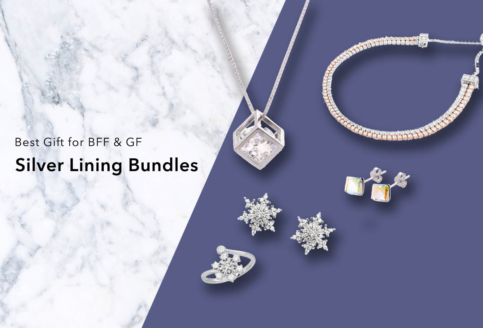 Silver Lining Bundles - Best Gift for BFF & GF | Blue Edges Co. | Nordic Contemporary Marble Fashion | Minimal Uniqueness | Reinvent your Collection