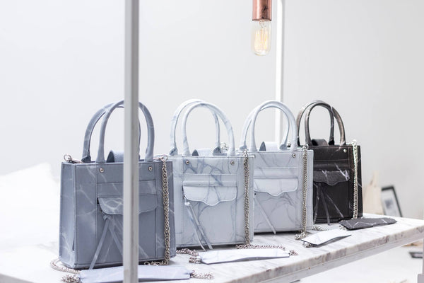 Natural Marble Luggage - White-Brown - Bags - Blue Edges Co. | Nordic Contemporary Marble Fashion 北歐風後現代主義概念店| Minimal Uniqueness | Reinvent your Collection