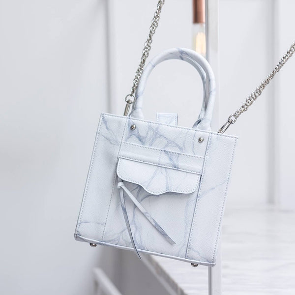 NATURAL MARBLE LUGGAGE - WHITE-GREY - Blue Edges Co. | Shop the Minimalist Fashion Online