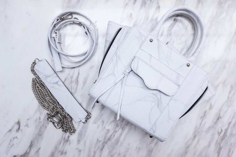 Natural Marble Tote Bag - White-Grey - Bags - Blue Edges Co. | Nordic Contemporary Marble Fashion 北歐風後現代主義概念店| Minimal Uniqueness | Reinvent your Collection