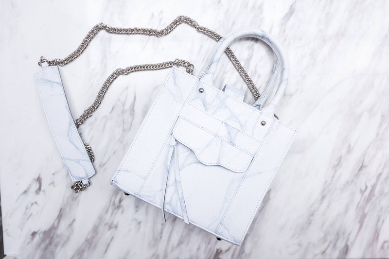 NATURAL MARBLE LUGGAGE - WHITE-BROWN - Blue Edges Co. | Shop the Minimalist Fashion Online