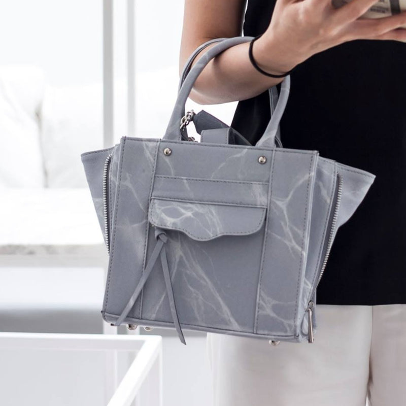 NATURAL MARBLE LUGGAGE - GREY - Blue Edges Co. | Shop the Minimalist Fashion Online