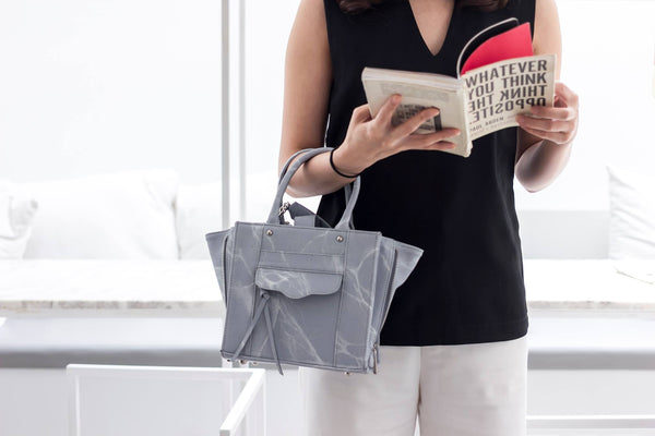 Natural Marble Tote Bag - Black - Bags - Blue Edges Co. | Nordic Contemporary Marble Fashion 北歐風後現代主義概念店| Minimal Uniqueness | Reinvent your Collection