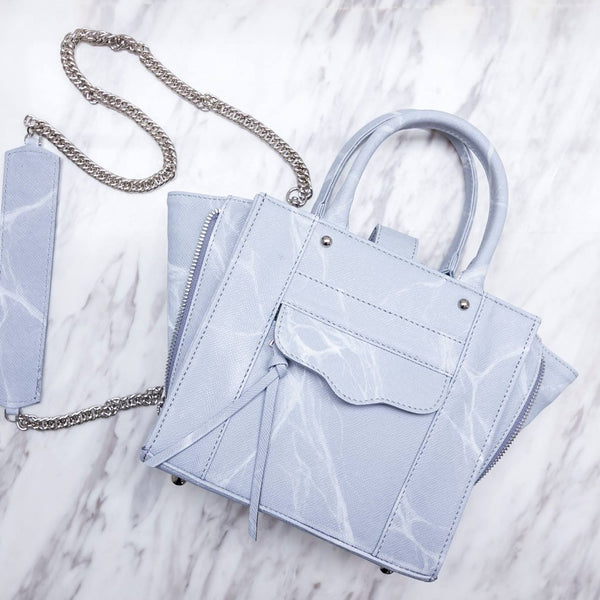 NATURAL MARBLE TOTE BAG - GREY - Blue Edges Co. | Shop the Minimalist Fashion Online