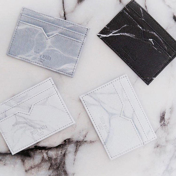 NATURAL MARBLE CARDHOLDER - BLACK - Cardholder - Blue Edges Co. | Nordic Contemporary Marble Fashion | Minimal Uniqueness