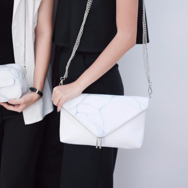 NATURAL MARBLE CLUTCH-STYLE BAG - Blue Edges Co. | Shop the Minimalist Fashion Online