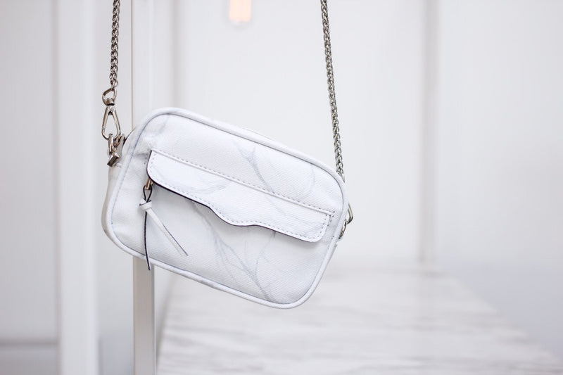 NATURAL MARBLE MINIBAG - GREY - Blue Edges Co. | Shop the Minimalist Fashion Online