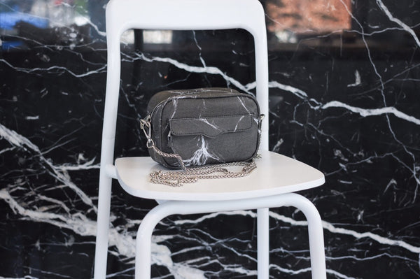 Natural Marble Minibag - White-Grey - Bags - Blue Edges Co. | Nordic Contemporary Marble Fashion 北歐風後現代主義概念店| Minimal Uniqueness | Reinvent your Collection