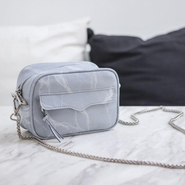 NATURAL MARBLE MINIBAG - GREY - Bags - Blue Edges Co. | Nordic Contemporary Marble Fashion | Minimal Uniqueness