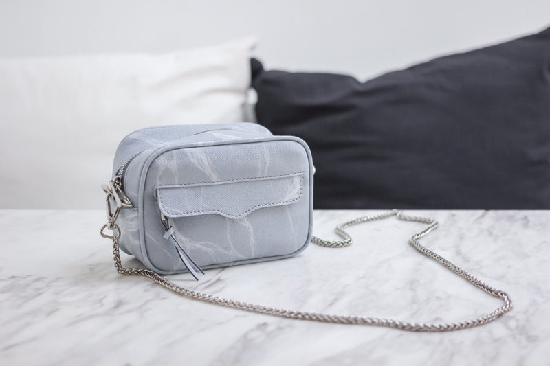 Natural Marble Minibag - White-Brown - Bags - Blue Edges Co. | Nordic Contemporary Marble Fashion 北歐風後現代主義概念店| Minimal Uniqueness | Reinvent your Collection