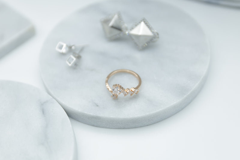 STAR ROSE GOLD STERLING SILVER RING - Accessories - Blue Edges Co. | Nordic Contemporary Marble Fashion | Minimal Uniqueness