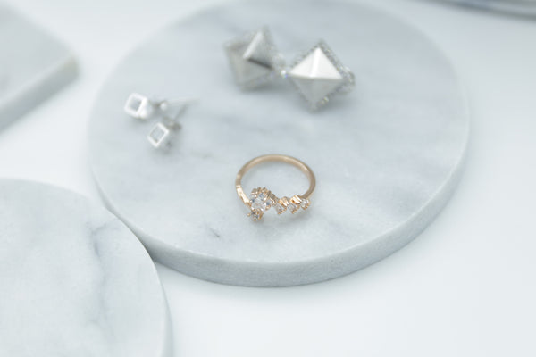 Star Rose Gold Sterling Silver Ring - Accessories - Blue Edges Co. | Nordic Contemporary Marble Fashion 北歐風後現代主義概念店| Minimal Uniqueness | Reinvent your Collection