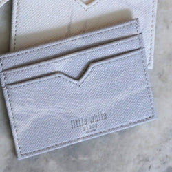 NATURAL MARBLE CARDHOLDER - GREY - Blue Edges Co. | Shop the Minimalist Fashion Online