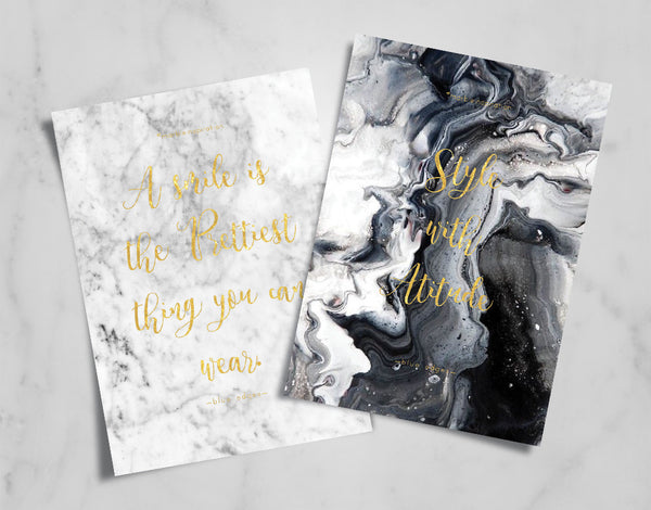 Marble Quote Card Set - Quote Card Set - Blue Edges Co. | Nordic Contemporary Marble Fashion 北歐風後現代主義概念店| Minimal Uniqueness | Reinvent your Collection