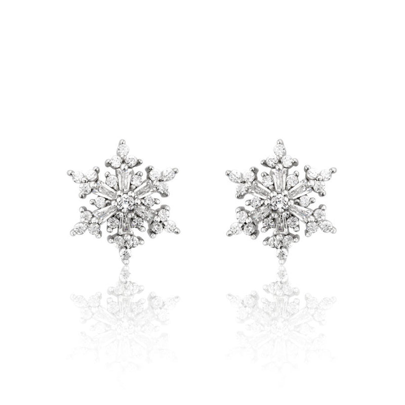 ROMANTIC SNOWFLAKES STERLING SILVER EARRING - Blue Edges Co. | Shop the Minimalist Fashion Online