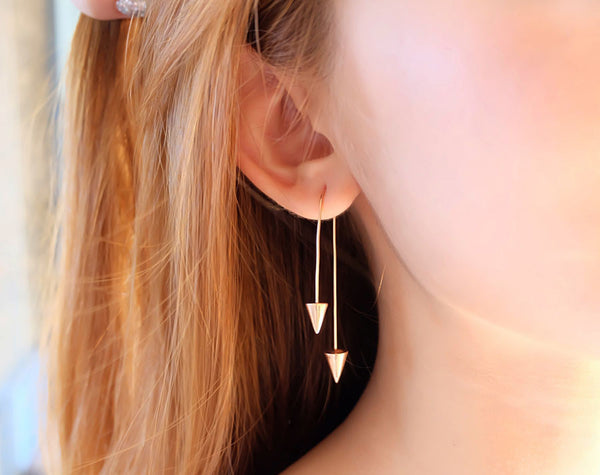 Cupid's Arrow Rose Gold Sterling Silver Earring - Accessories - Blue Edges Co. | Nordic Contemporary Marble Fashion 北歐風後現代主義概念店| Minimal Uniqueness | Reinvent your Collection