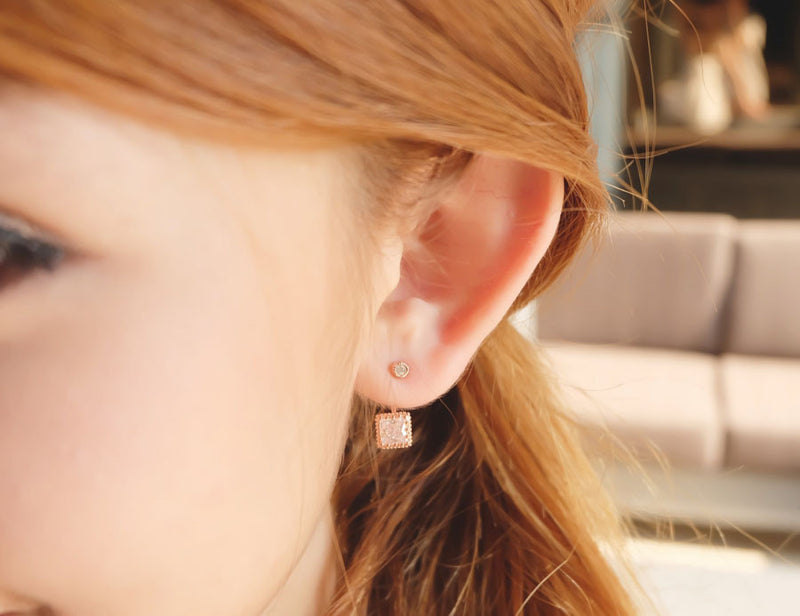 SILVER TEARS ROSE GOLD STERLING SILVER EAR-JACKET - Blue Edges Co. | Shop the Minimalist Fashion Online