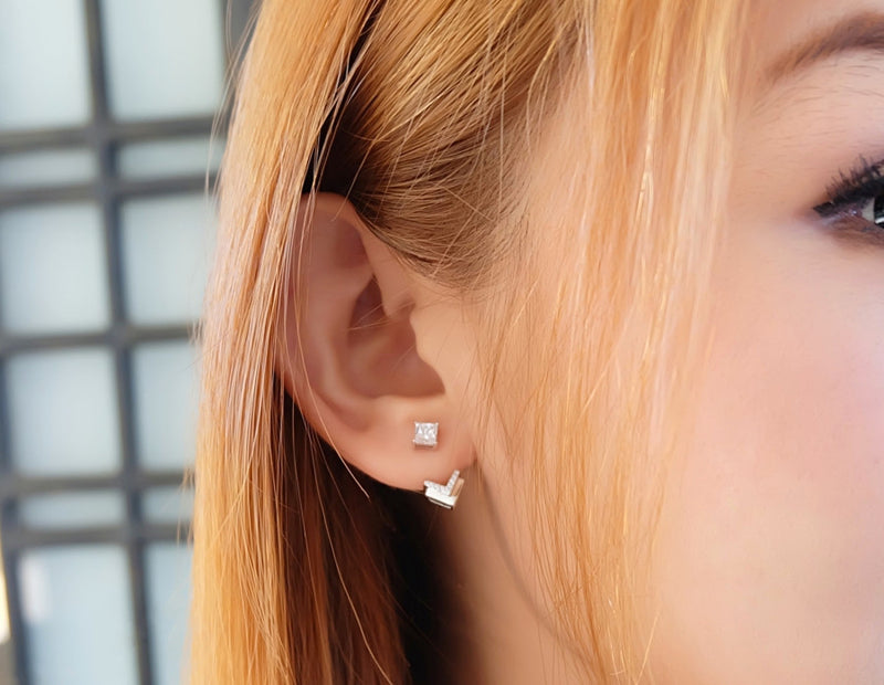 Little Cupid's Arrow Sterling Silver Ear-Jacket - Accessories - Blue Edges Co. | Nordic Contemporary Marble Fashion 北歐風後現代主義概念店| Minimal Uniqueness | Reinvent your Collection