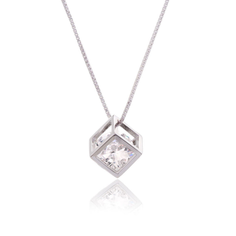 DIAMOND HEART STERLING SILVER PENDANT - Blue Edges Co. | Shop the Minimalist Fashion Online