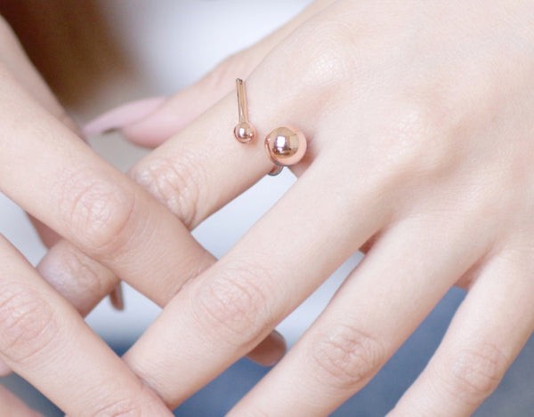 Mercury Retrograde Rose Gold Sterling Silver Ring - Accessories - Blue Edges Co. | Nordic Contemporary Marble Fashion 北歐風後現代主義概念店| Minimal Uniqueness | Reinvent your Collection