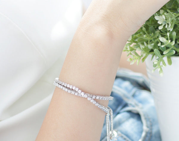 Diamond Chain Sterling Silver Bracelet - Accessories - Blue Edges Co. | Nordic Contemporary Marble Fashion 北歐風後現代主義概念店| Minimal Uniqueness | Reinvent your Collection