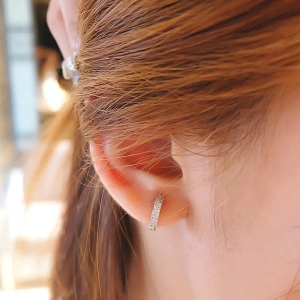 Love Lock Rose Gold Sterling Silver Earring - Accessories - Blue Edges Co. | Nordic Contemporary Marble Fashion 北歐風後現代主義概念店| Minimal Uniqueness | Reinvent your Collection