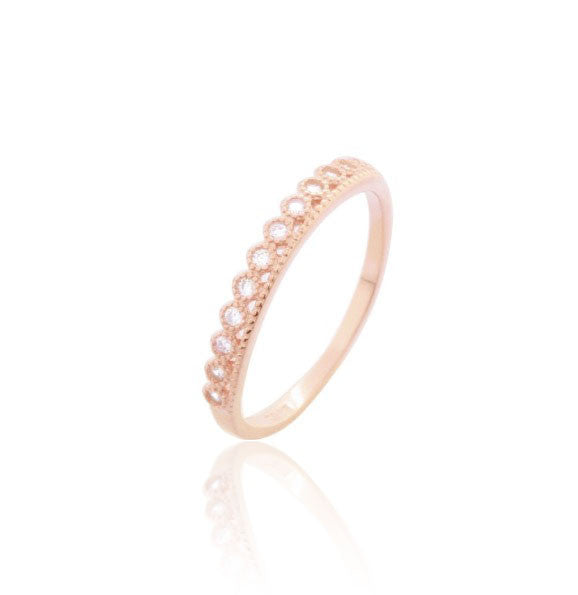 SHARED-SETTING BAND ROSE GOLD STERLING SILVER RING - Blue Edges Co. | Shop the Minimalist Fashion Online