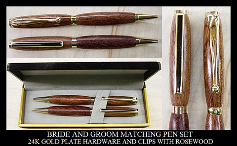 BRIDE AND GROOM MATCHING PENS SET