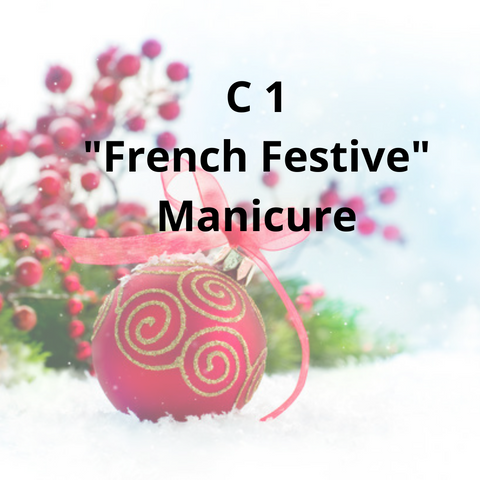 "C1 - ""French Festive"" Manicure"