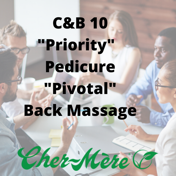 "C&B-10 ""Priority"" Pedicure, ""Pivotal"" Back Massage"