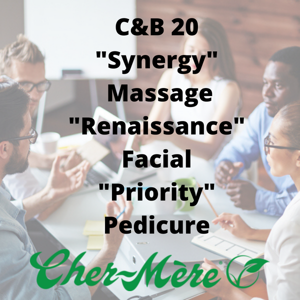 "C&B-20 ""Synergy"" Massage, ""Renaissance"" Facial, ""Priority"" Pedicure"