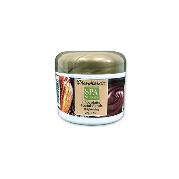 Chocolatte face scrub with mint jojoba