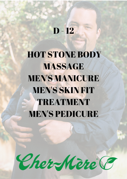 D12 - Hot Stone Body Massage, Men's Manicure, Men's Skin Fit Treatment, Men's Pedicure