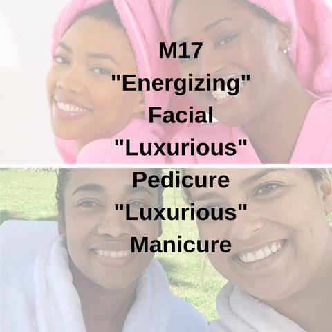 "M17 - ""Energizing"" Facial ""Luxurious"" Pedicure ""Luxurious"" Manicure - Cher-Mere"
