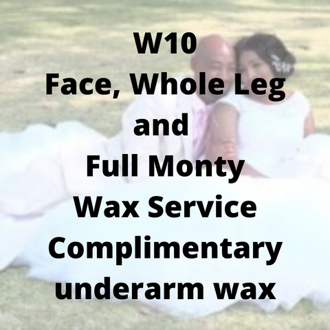 W10 - Face, Whole Leg & Full Monty Wax Service, complimentary underarm wax - Cher-Mere