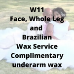 W11 - Face, Whole Leg & Brazilian Wax Service, complimentary underarm wax - Cher-Mere