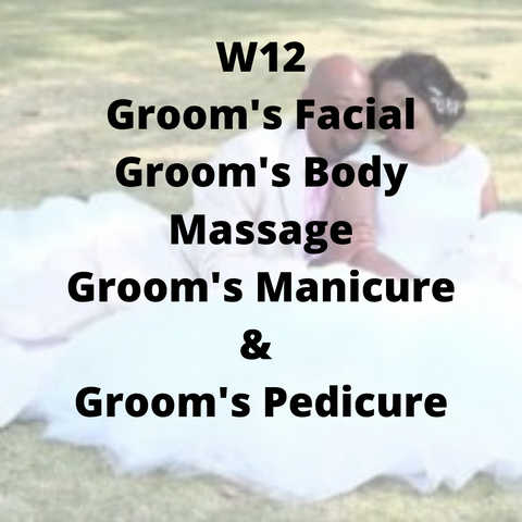 W12 - Groom's Facial, Groom's Body Massage, Groom's Manicure & Groom's Pedicure - Cher-Mere