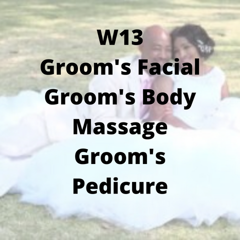 W13 - Groom's Facial, Groom's Body Massage, Groom's Pedicure - Cher-Mere