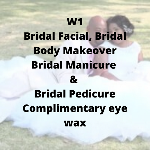 W1 - Bridal Facial, Bridal Body Makeover, Bridal Manicure & Pedicure, complimentary eye wax - Cher-Mere