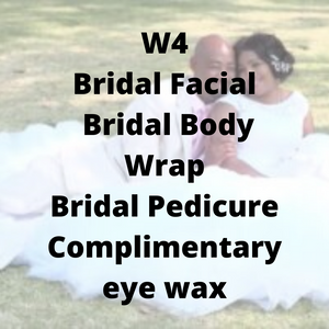 W4 - Bridal Facial, Bridal Body Wrap, Bridal Pedicure, complimentary eye wax - Cher-Mere