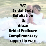 W7 - Bridal Body Exfoliation & Glaze, Bridal Pedicure, complimentary upper lip wax - Cher-Mere