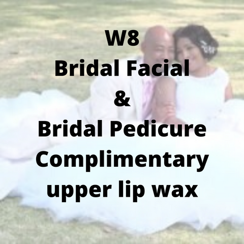 W8 - Bridal Facial & Bridal Pedicure, complimentary underarm wax - Cher-Mere