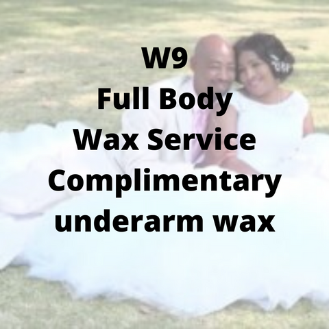W9 - Full Body Wax Service, complimentary underarm wax - Cher-Mere